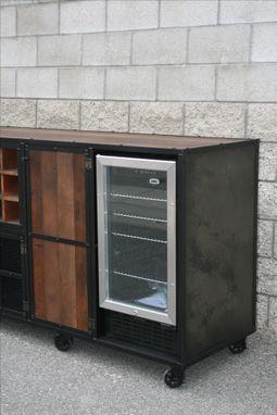 A Handmade Reclaimed Wood Liquor Cabinet Beverage
