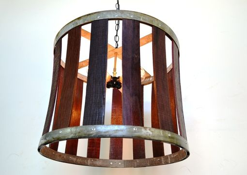 Buy a hand made craftsman drum barrel stave chandelier made craftsman drum barrel stave chandelier mozeypictures Image collections