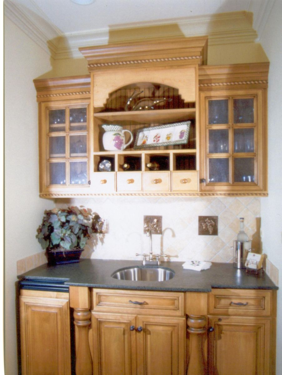 Handmade Small Wet Bar By Woodworking Unlimited Inc