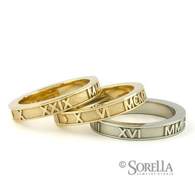 Custom Made Stackable Birthday Rings In 14k Gold