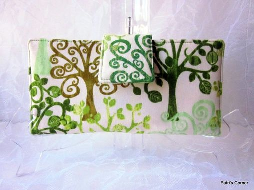 Custom Made Handmade Women Wallet Love A Tree, Green, Organic, Fresh