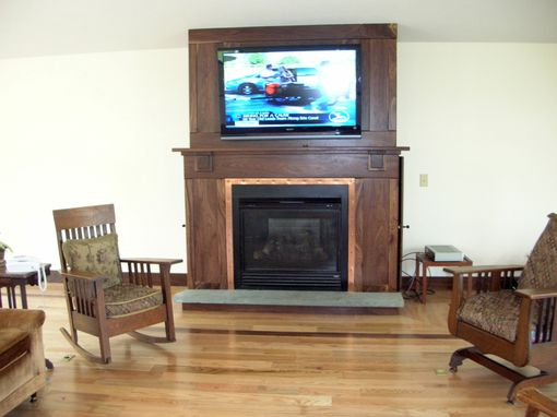 Custom Made Custom Walnut Trim, Cabinetry, And Fireplace