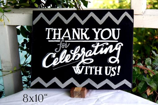 Custom Made Chalkboard Table Signs & Table Numbers