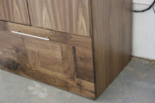 Custom Made American Black Walnut Armoire