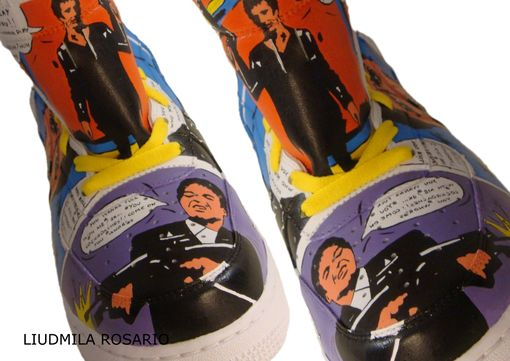 Custom Made Scarface Air Force 1/Custom Shoes/ Hand Painted Shoes