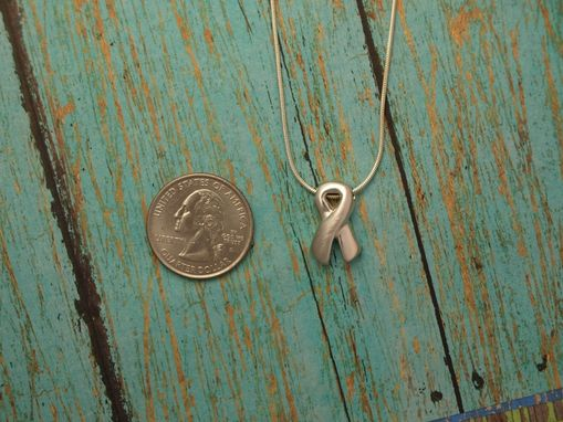 Custom Made Sterling Ribbon Necklace
