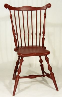 Custom Made Maine Windsor Fan-Back Side Chair