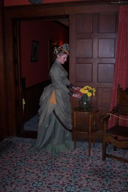 Custom Made Reproduction 1886 Victorian Day Dress