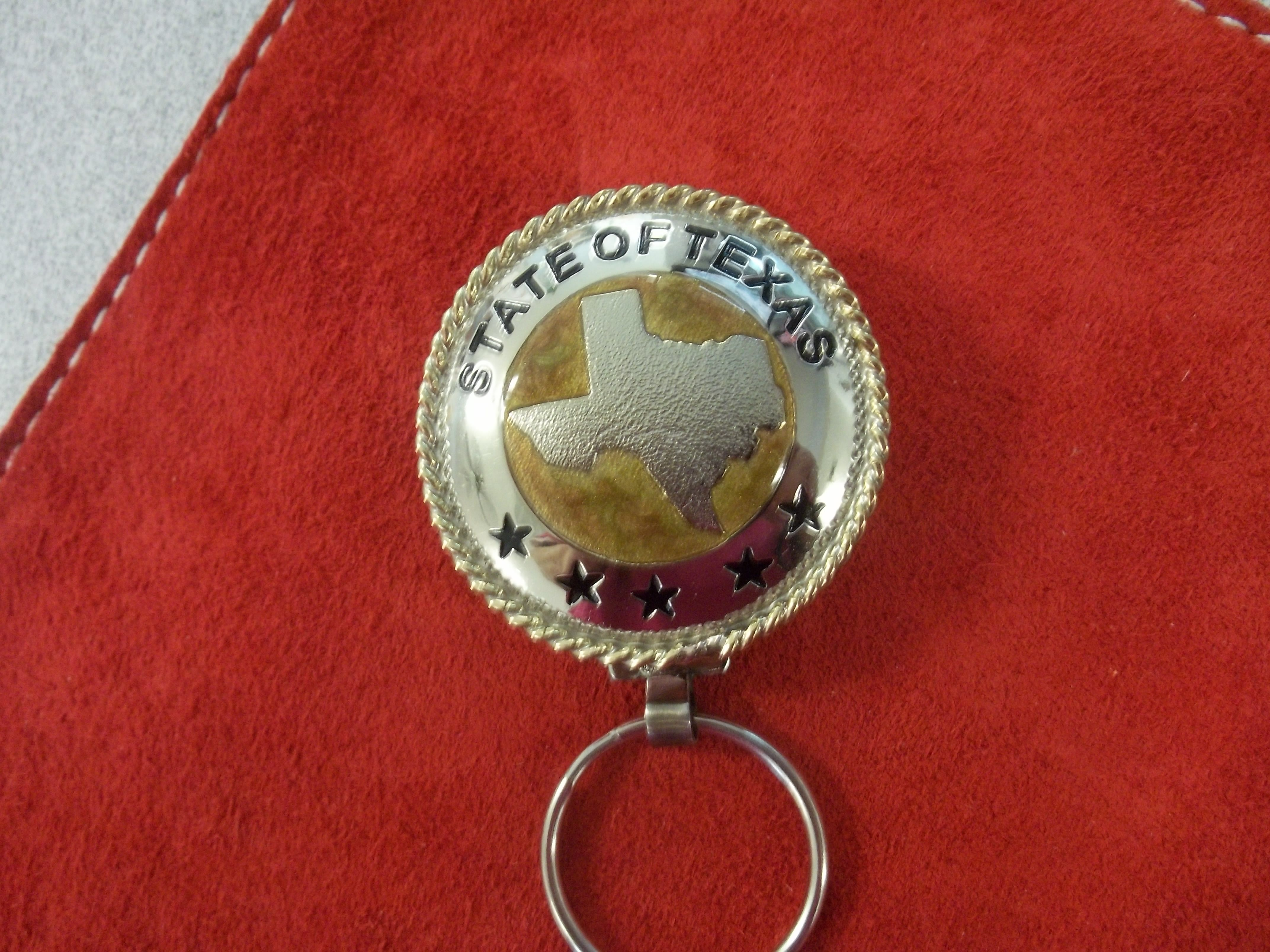 Custom State Of Texas Key Rings by Bluehorn Custom Leather