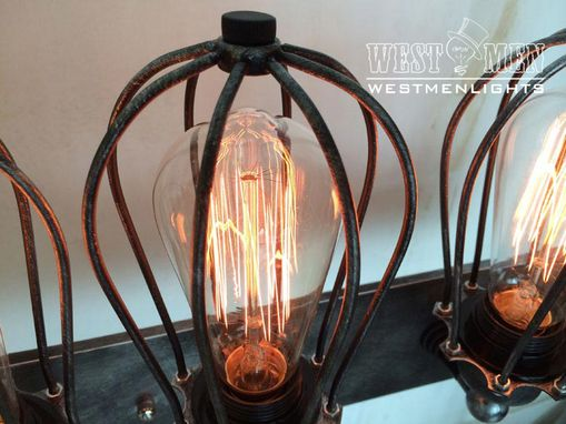 Custom Made Westmenlights Black Iron Art Deco Wall Sconce Lamp Rustic Industrial Shop Lighting