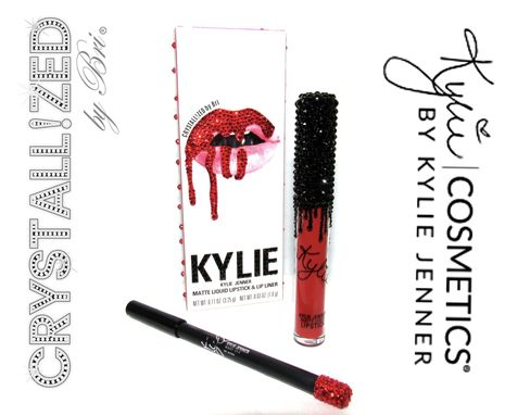 Custom Made Crystallized Kylie Jenner Lip Kit Makeup Lipstick Cosmetics Bling Swarovski Crystals Bedazzled
