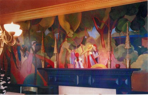 Custom Made Expresionist/Fauve Diningroom Mural