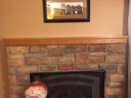 Custom Made Custom Quarter-Sawn Red Oak Mantel- Craftsman Style