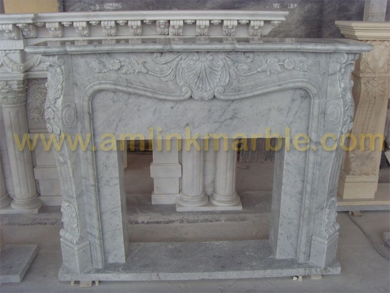 Handmade Stone Fireplaces Marble Travertine Fireplace ...