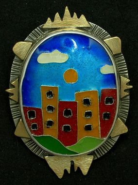 Custom Made Manhattan Skyline Pendant And Pin