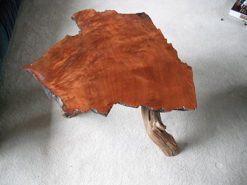 Custom Made Redwood Burl Side Table