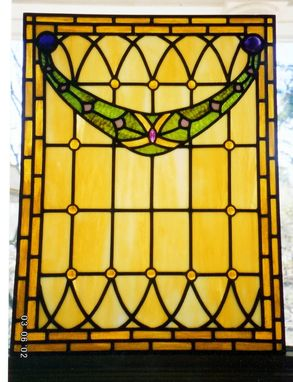 Custom Made Edwardian Art Glass Panel