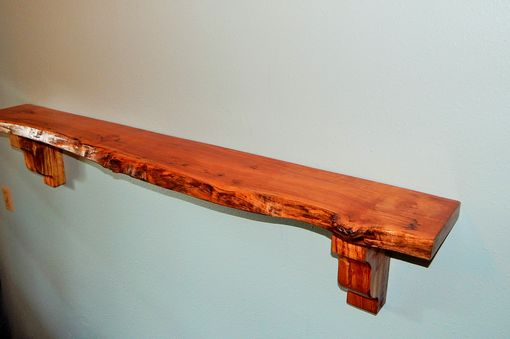 Custom Made Maple Live Edge Mantel