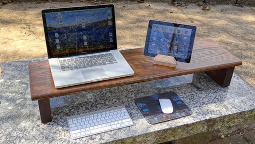 Custom Made Oak Laptop Stand