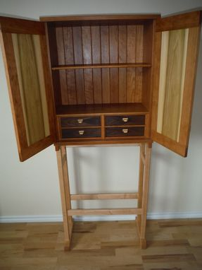 Custom Made Cherry Cabinet On A Stand