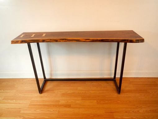 Custom Made Live Edge Walnut Console Table / Sofa Table / Free Form Edge Table