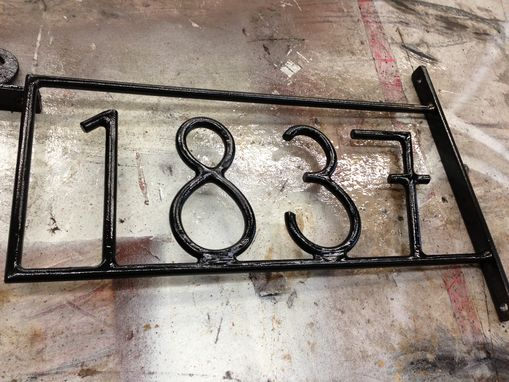 Custom Made Customized Forged Steel Address Numbers By Szk Metals