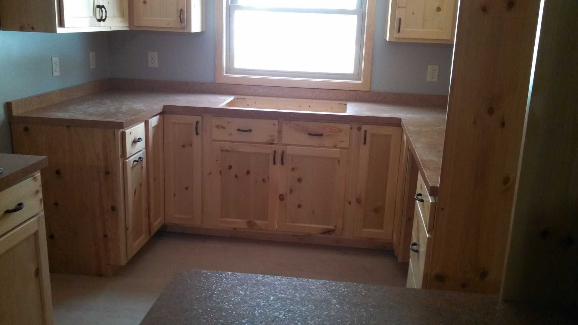 Hand Made Knotty Pine Kitchen Bath Cabinets By Ziegler Woodwork And Specialty Custommade Com