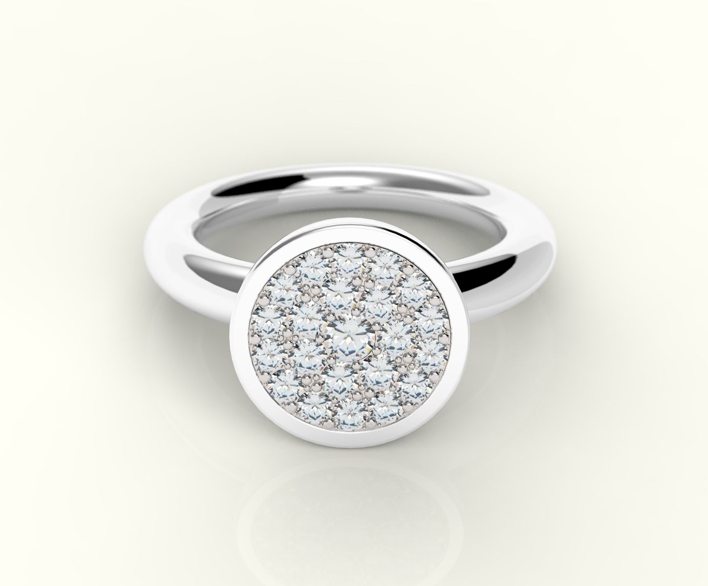 Custom Made Diamond Solitaire Pave Cer Engagement Wedding Ring