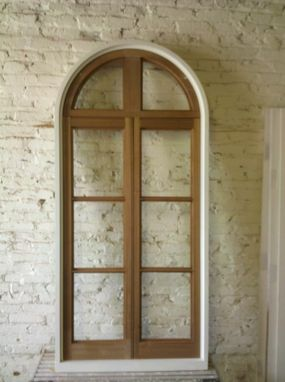 Custom Made Historical Replacement Archtop Window