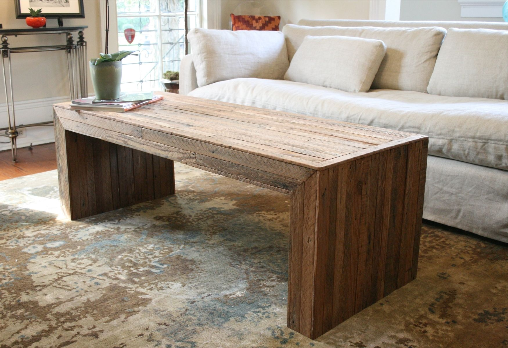 Hand made the jackson table modern yet rustic coffee table made hand made the jackson table modern yet rustic coffee table made from reclaimed new orleans homes by doorman designs custommade geotapseo Gallery