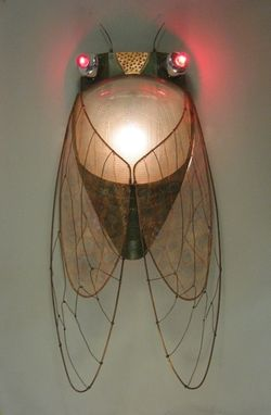 "Custom Made Mixed Media ""Cicada Sconce"""