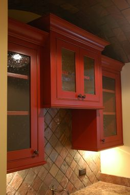 Custom Made Red Kitchen