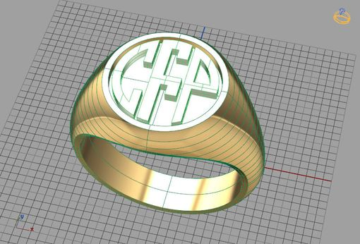 Custom Made Signet Ring Monogram Ring