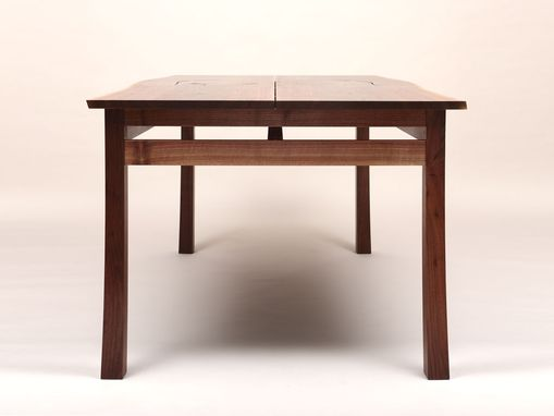 Custom Made Natural Edge Black Walnut Desk | Table