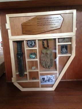 Custom Made Shadow Box With Multiple Windows