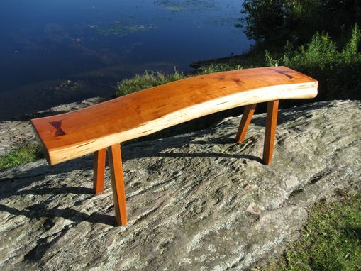"Custom Made ""Sweeping Grace""  Cherry Bench"