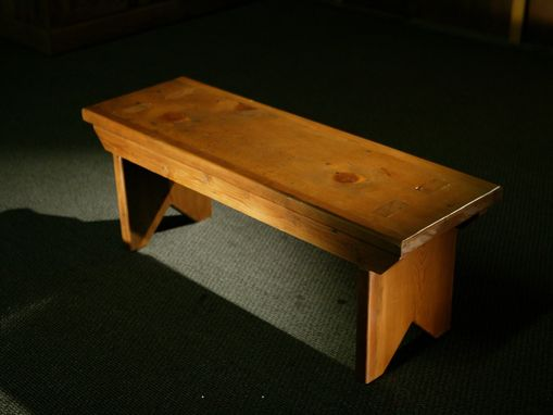 Custom Made Rustic Reclaimed Barn Wood Plank Bench