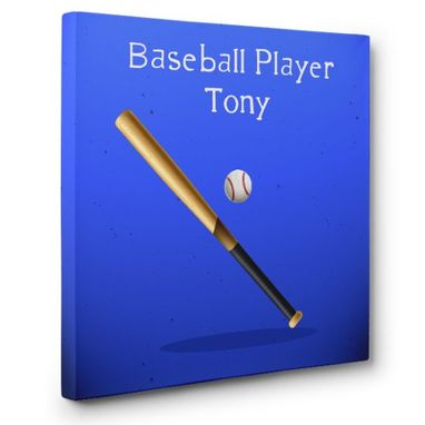 Custom Made Baseball Player Canvas Wall Art