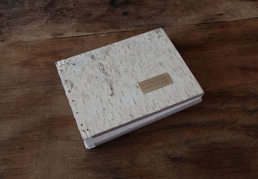 Custom Made Birch Wedding Or Cabin Wood Guest Book