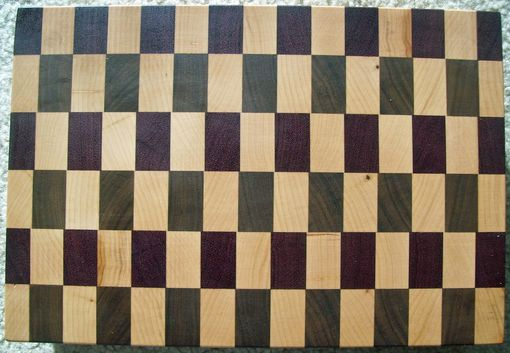 Custom Made Maple, Walnut & Purple Heart End Grain Board