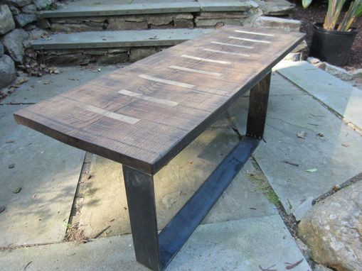Custom Made Coffee Table With Maple Inlays