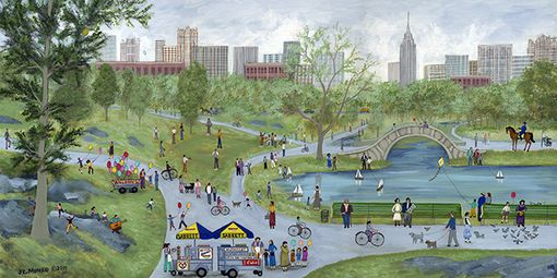 "Custom Made ""Central Park"" - Limited Edition Giclee Print By J.L. Munro"