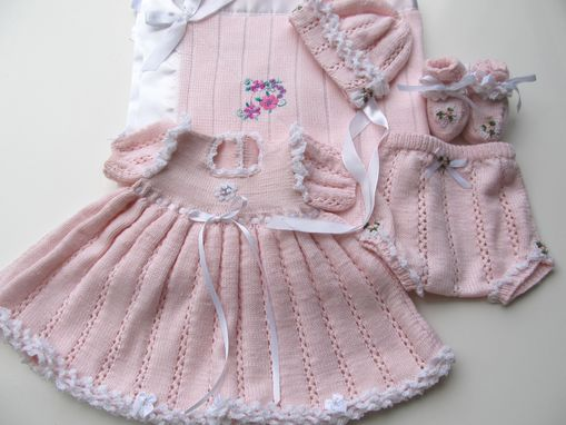 Custom Made Lace And Ruffles Baby Girl's Layette