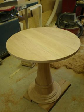 Custom Made Custom Solid Cherry Kitchen Table