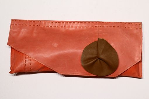 Custom Made Upcycled Suede And Leather Clutches