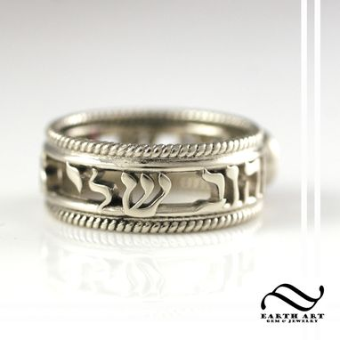 Custom Made Hebrew Writing Engagement Ring Or Wedding Band