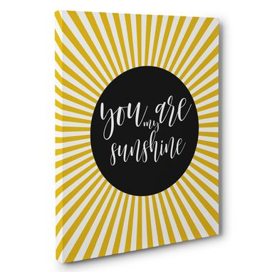 Custom Made You Are My Sunshine Canvas Wall Art