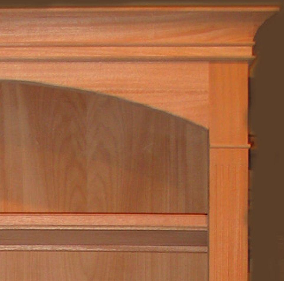 Custom Unfinished Or Finished Mahogany Bookshelf By