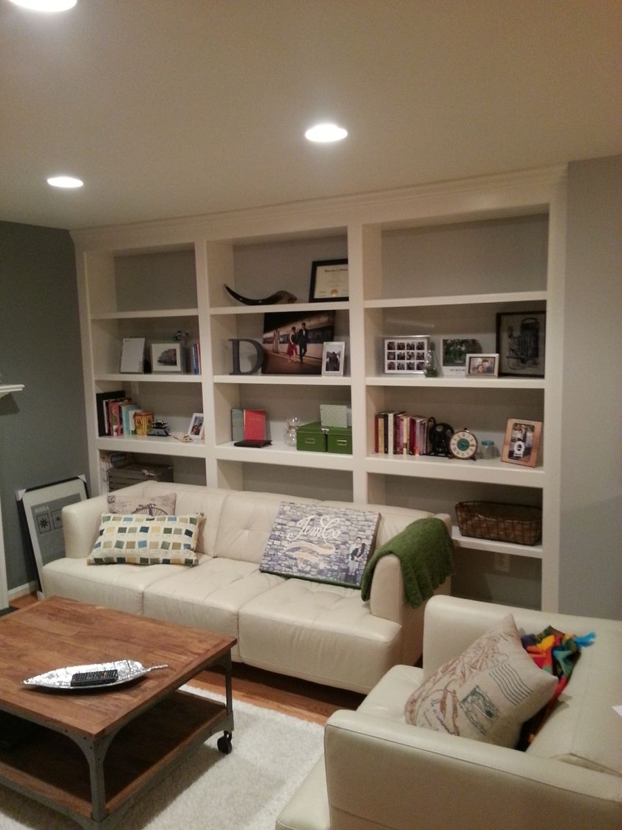 Hand Crafted Built In Bookshelves With Adjustable Shelves