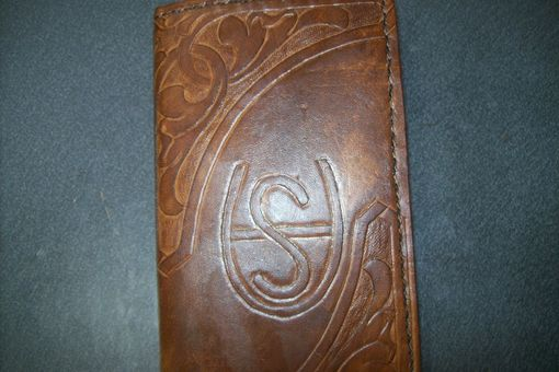 Custom Made Custom Leather Wallet Designed By Client With Personalized Brand